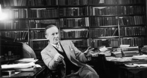 From 1949, during his time as Professor of English Language and Literature at Oxford University's Merton College, JRR Tolkien was an extern at UCG and regularly made the trip to Galway. Photograph: Haywood Magee/Getty Images