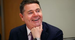 Minister for Finance Paschal Donohoe  is due to appear before the Oireachtas Committee of Budgetary Oversight on Tuesday. Photograph: Laura Hutton/The Irish Times