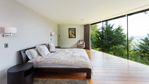 The main bedroom at San Elmo Lodge, Torca Road, Dalkey
