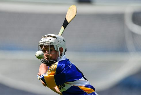 Fiachra Codd of Scoil Treasa, Firhouse, in action in the Corn JMOB Cup Final at Croke Park. Photograph:  Piaras O Midheach/Sportsfile