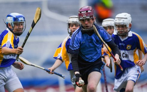Fintan Lydon of St Mary's BNS Booterstown on the charge in Croke Park. Photograph: Piaras O Midheach/Sportsfile