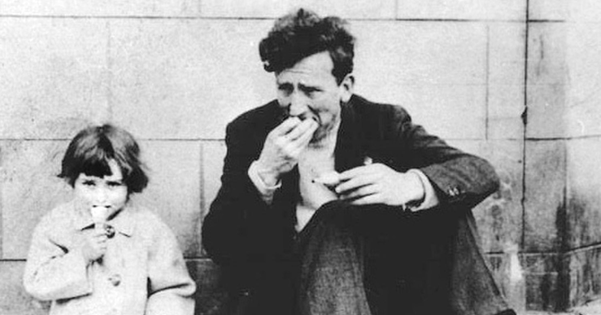 Ruth Behan as a girl with her father, Brian Behan