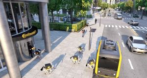 German technology giant Continental has presented a vision of the future that posits autonomous delivery vans that roam our cities and towns, stopping to unleash a pack of robotic, intelligent, delivery drones that bear more than a passing resemblance to Snoopy the dog.