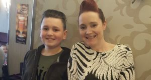 Max Byrne (14)  with his mother, Sandra. Receiving a diagnosis was not the end of Max's problems –  the Byrnes found they were very much on their own when it came to finding treatment for Max