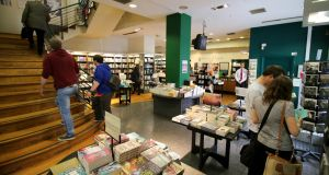 Hodges Figgis, owned by Waterstones,  on Dawson Street.