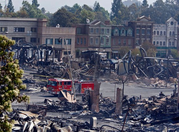 Melted master tapes: the fire at Universal Studios Hollywood in 2008 is estimated to have destroyed about 500,000 song titles. Photograph: Allen J Schaben/Los Angeles Times via Getty
