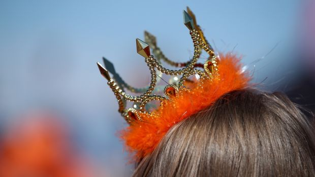 A Netherlands fan during their game against New Zealand. Photograph: Alex Grimm/Getty Images