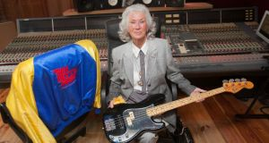 A vibe for Philo: Philomena Lynott with one of her late son's guitars in 2015. Photograph: Gareth Chaney/Collins