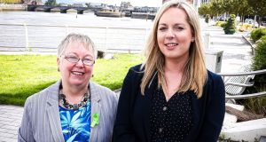 Marion Browne, manager, Limerick-North Munster Information Service CLG and Edel Conlon, regional services manager with Threshold, announcing details of the a new weekly advisory service for people facing housing difficulties in the city. Photograph: Keith Wiseman