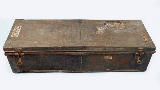 Metal trunk inscribed Lieut Commander William Blunden and bearing a Gieves of Portsmouth label, €150-€250