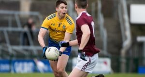 Roscommon defender Conor Daly in action against Galway during the league. Photograph: Evan Logan/Inpho