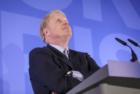 MAKING HIS CASE: Boris Johnson during the launch of his campaign to become the next leader of the Conservative Party in London. Photograph: Chris Ratcliffe/Bloomberg