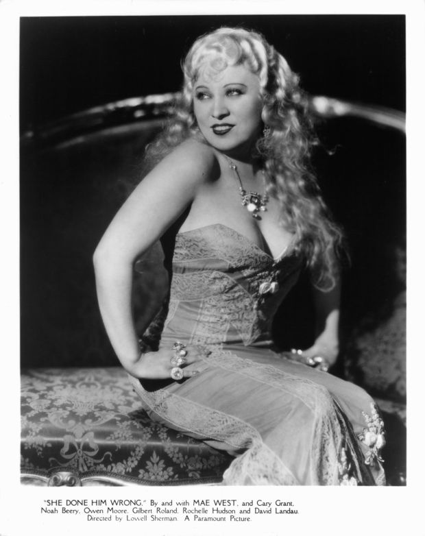 Mae West publicity portrait for the film She Done Him Wrong, 1933. Photograph: Paramount/Getty