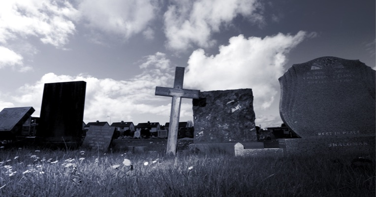 Sligo city cemetery at the unmarked grave of Peter Bergmann in 2009