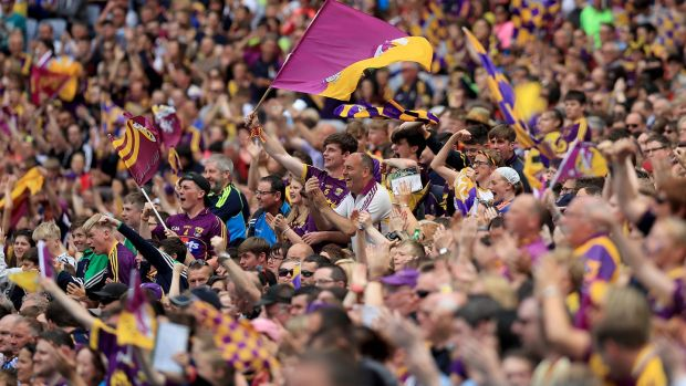 Look at the Leinster final crowds over the past few years – 29,000 in 2016, then 60,000 in 2017 and back to 40,000 last year. No prizes for guessing which year Wexford were there. Photograph: Donall Farmer/Inpho