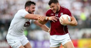 All-Ireland Senior Football Championship Quarter-Final Phase 2, St. Conleth's Park, Newbridge, Co. Kildare 22/7/2018Kildare vs GalwayKildare's Fergal Conway with Damien Comer of GalwayMandatory Credit ©INPHO/Ryan Byrne