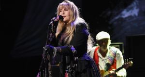 Stevie Nicks: At 27 she thought she was old, she tells the crowd. Now  she's 71 and feels she's got so much more to give. Photograph: Kevin Mazur/Getty Images