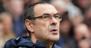 Maurizio Sarri looks set to return to Italy to take over as manager of Juventus. Photograph:  Adam Davy/PA Wire