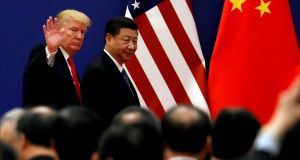 US president Donald Trump will meet China president Xi Jinping at the G20 summit in June. Photograph: Reuters