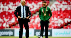 Ireland assistant coach Robbie Keane has taken up the same role at Middlesbrough alongside Jonathan Woodgate. Photo: Ryan Byrne/Inpho