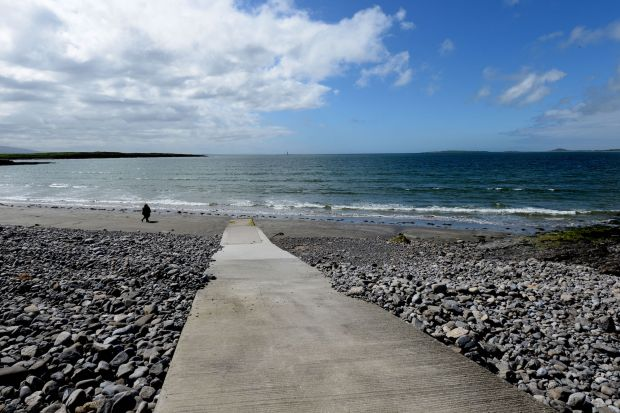 First beach at Rosses Point, where the body of Peter Bergmann was found in June 2009. Photograph: Alan Betson