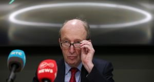 Minister for Transport Shane Ross pictured at a press conference earlier this year.  Photograph: Laura Hutton