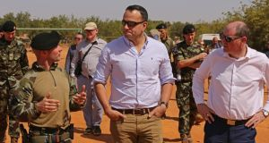 Taoiseach Leo Varadkar visits Irish troops in Mali in January. The existing troops are there in a non-combat training role.