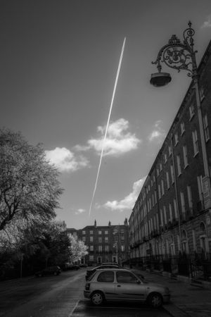 Plane over Fitzwilliam by Frank Keane