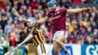 Kilkenny's TJ Reid and Galway's Johnny Coen in action during last week's Leinster championship clash at  Nowlan Park. Photograph: Morgan Treacy/Inpho