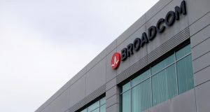 Broadcom fell 6.53% after it cut its full-year revenue forecast by $2 billion. Photograph: Mike Blake/File Photo/Reuters