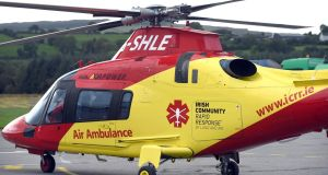 Helicopter from Ireland's first  charity air ambulance service. Photograph: Don MacMonagle