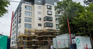 The Herbert Hill apartment complex  nearing completion opposite Dundrum Town Centre. Photograph: James Forde