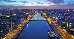 "Central Dublin. EY noted that Ireland remained a ""highly attractive"" destination for foreign direct investment for companies moving operations out of the UK.  Photograph: iStock"