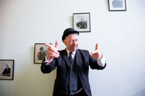 Leopold Bloom, played by actor Les Doherty, at the James Joyce Centre in Dublin. Photograph: Tom Honan