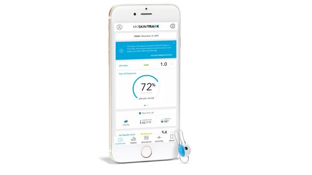 The My Skin Track UV app keeps track of your UV exposure, combines it with air quality and pollution, and then offers you skincare advice based on the results