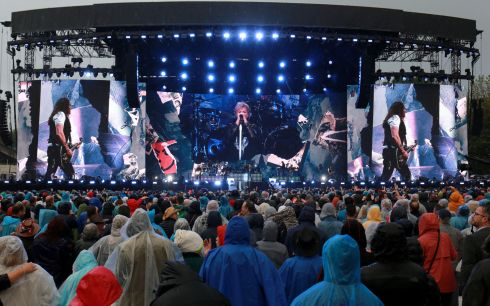 Bon Jovi played their second gig of the weekend at the RDS on Sunday night. Photo : Crispin Rodwell for the Irish Times