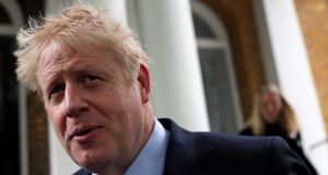 "Boris Johnson: Said he would not attend the hustings with political journalists on Monday because he is ""too busy"" preparing for a BBC leadership debate on Tuesday. Photograph:  Hannah Mckay/Reuters"