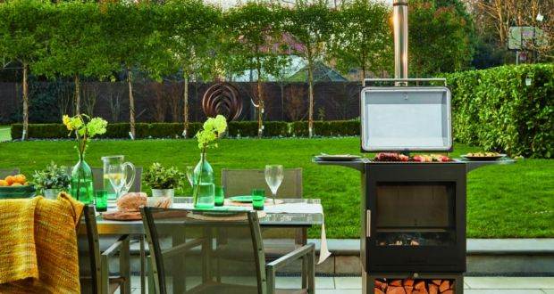 The barbeque is the ideal centrepiece for an summer garden.
