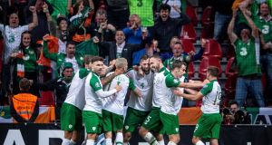 Ireland are in good position after four games to qualify for Euro 2020. Photo: Liselotte Sabroe/Reuters