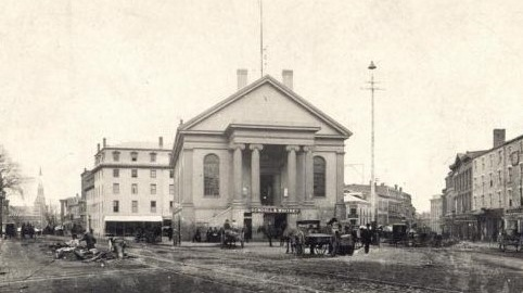 Portland City Hall in the 19th century.