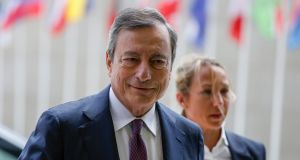 President of the European Central Bank  Mario Draghi pointed the way to cuts in interest rates or new asset purchases if inflation does not return to target, weakening the euro, lowering European bond yields and pulling stock markets higher