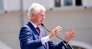Former US president Bill Clinton said the Brexit vote was conducted with almost no consideration of the potential damage to the North. Photograph: Armend Nimani/AFP/Getty Images.