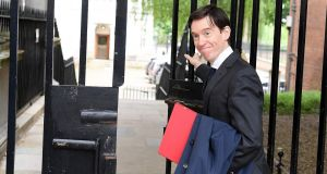 Britain's international development secretary Rory Stewart leaving Downing Street on Tuesday. He denied ever having worked for the MI6 intelligence agency. Photograph: Daniel Leal-Olivas/AFP/Getty Images