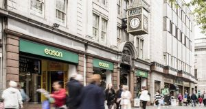 Eason's shop on O'Connell Street in Dublin has  four floors of retail extending to a combined 3,872sq m (41,680sq ft).