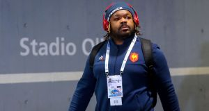 Mathieu Bastareaud has been left out of France's Rugby World Cup squad. Photograph: Tommy Dickson/Inpho