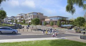 An artist's impression of the overall scheme Oakmount intends to develop at Mount Merrion in south Dublin.