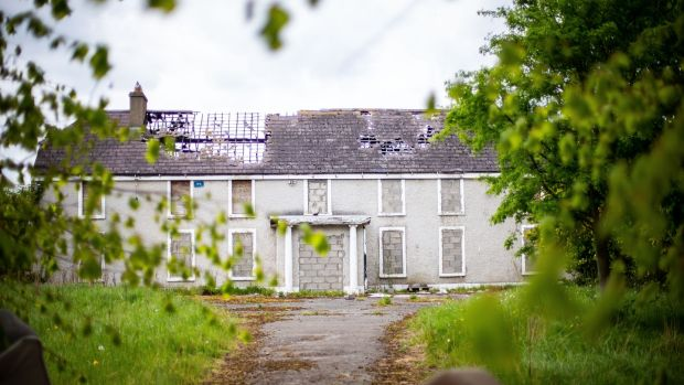 Derelict Glenwood House in Lucan, where the body of 14-year-old Ana Kriégel was found last year. Photograph: Tom Honan