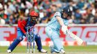 Eoin Morgan hit a world record 17 sixes as England made 397-6 against Afghanistan. Photograph: Martin Rickett/PA