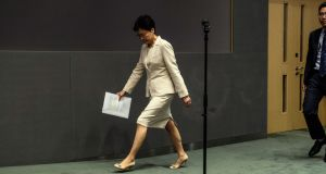 Carrie Lam, Hong Kong's chief executive: has apologised for proposing legislation to allow extraditions to mainland China. Photograph: Lam Yik Fei/New York Times