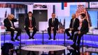 Conservative Party leadership contenders  Boris Johnson,  Jeremy Hunt,  Michael Gove,  Sajid Javid and Rory Stewart take part in the BBC television debate in London. Photograph: Jeff Overs/BBC/AFP/Getty Images